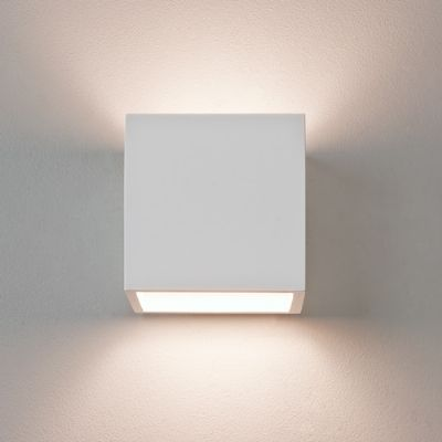 Pienza 165 Square White Plaster Up and Down Wall Light - ASTRO 1196003 (7153)